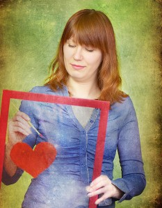 Painting her heart